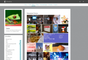 Screenshot of the gallery overview using the frio theme