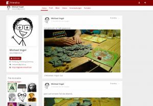 Screenshot of a profile using the frio theme