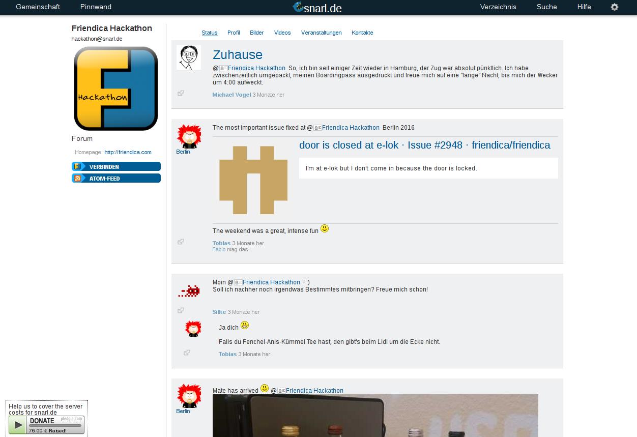 Friendica screenshot