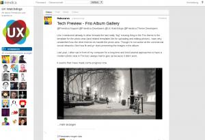 Screenshot of the Vier theme